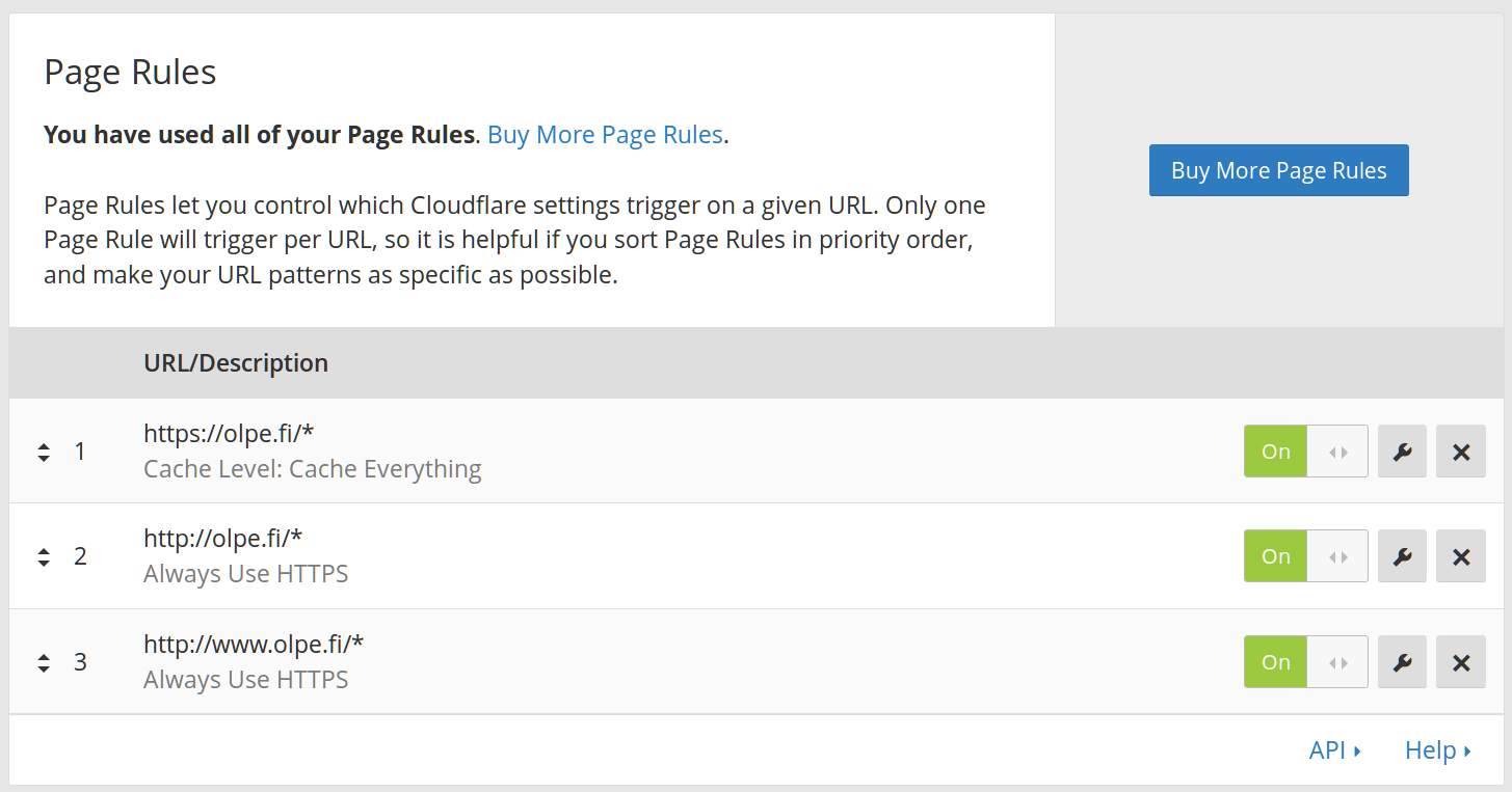 Cloudfare page rules
